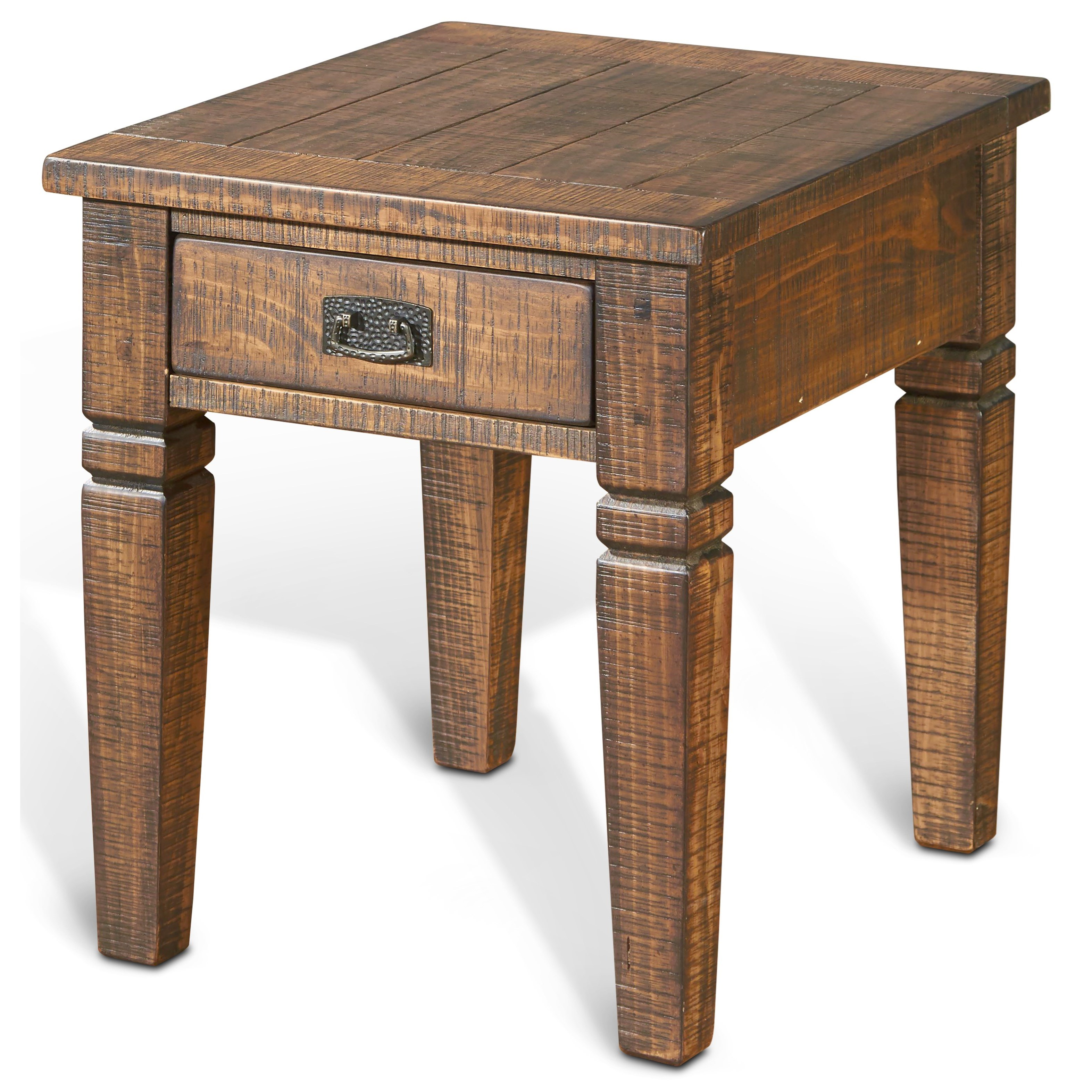 Sunny Designs Homestead End Table w/ 1 Drawer - Item Number: 3252TL-E