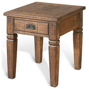 Sunny Designs Homestead End Table w/ 1 Drawer