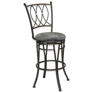 "Sunny Designs Jaylen 30""H Metal Swivel Barstool"