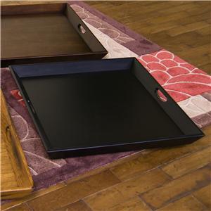 Sunny Designs Laguna Black Ottoman Tray