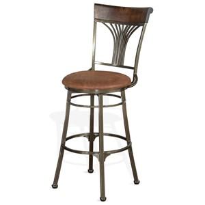 "30"" Metal Swivel Barstool with Cushion Seat"