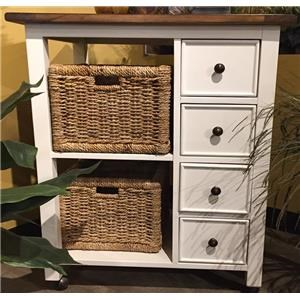 Market Square Mae Mae Kitchen Island W/ Baskets