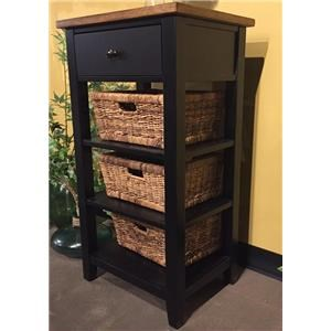 Market Square Mae Mae Storage Rack W/ Baskets