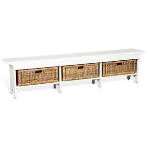 """Maggie 78"""" Bench with Baskets"""