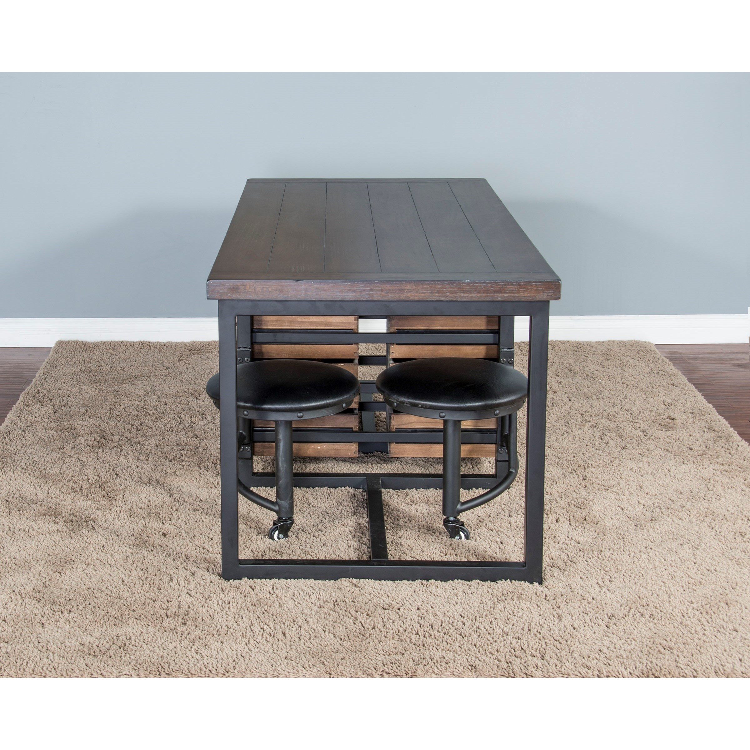 Sunny Designs Metro Flex Industrial 5 Piece Table Set With
