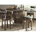 Sunny Designs Homestead 2 5-Piece Counter Height Pub Table Set - Item Number: 1038TL2+2x1624TL2-24+2x1624TL2-B24
