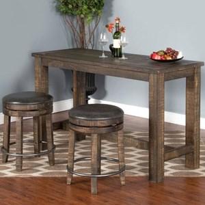 Sunny Designs Metro Flex 3 Piece Pub Table Set