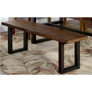Morris Home Furnishings Minden Minden Live Edge Bench