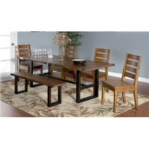 Morris Home Furnishings Minden Minden 5-Piece Dining Set