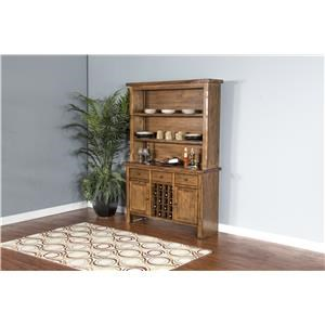 Morris Home Furnishings Minden Minden II Buffet w/Hutch