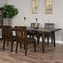 Sunny Designs Nassau 5-Piece Table Set - Item Number: 1095DT+4x1450