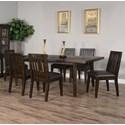 Sunny Designs Nassau 7-Piece Table Set - Item Number: 1095DT+6x1450