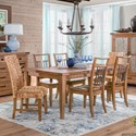 Sunny Designs Mossy Oak Nativ Living Dining Table Set with Six Chairs - Item Number: 1084DL+2x1698DL+4x1685DL