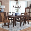 Sunny Designs Mossy Oak Nativ Living Dining Table Set with Six Chairs - Item Number: 1084KW+2x1698KW+4x1685KW