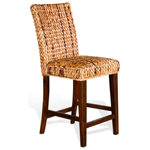 Banana Leaf Counter Height Barstool