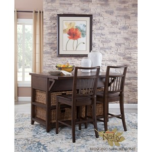 Kitchen Island and Chair Set