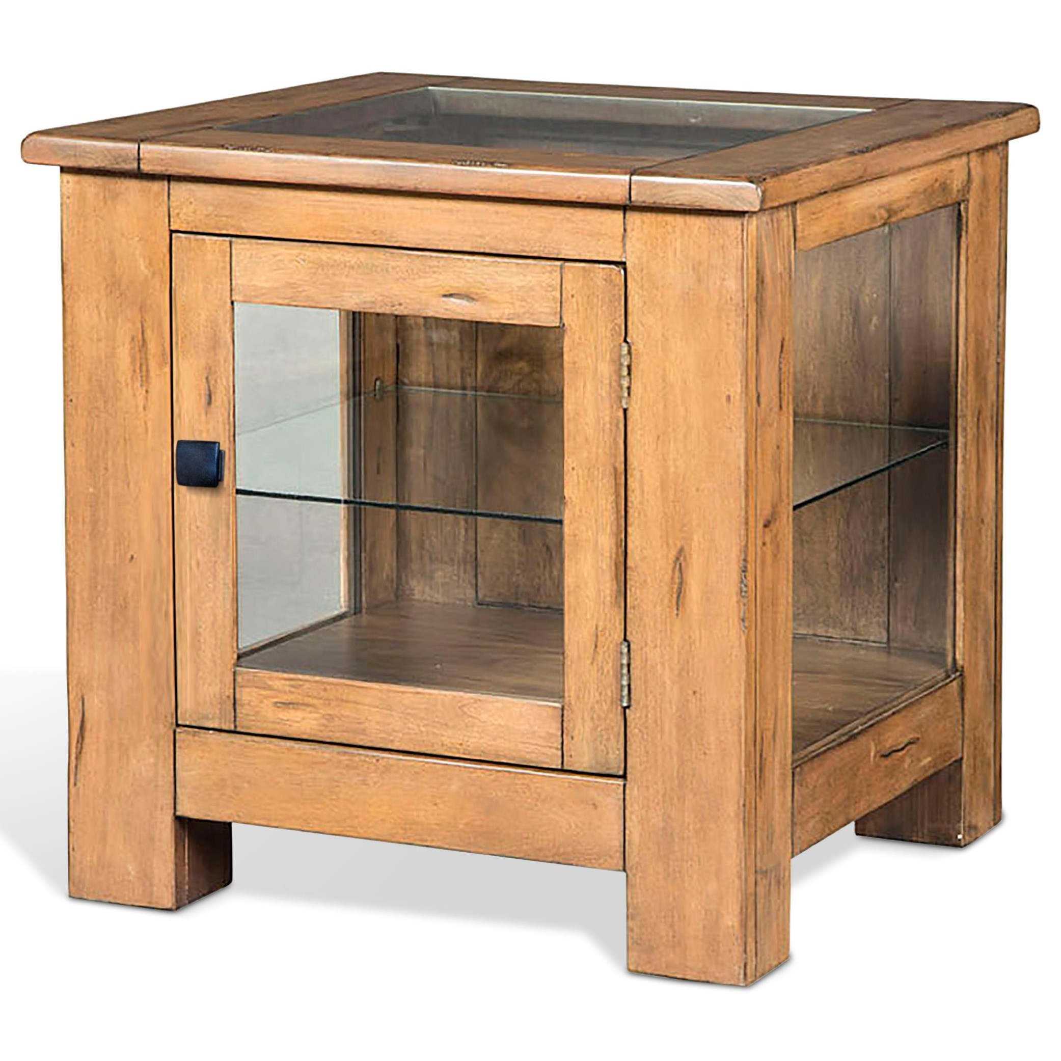 Mossy Oak Nativ Living Curio End Table by Sunny Designs at Stoney Creek Furniture