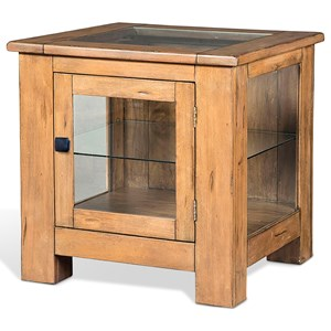 Curio End Table