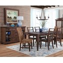 Sunny Designs Mossy Oak Nativ Living Formal Dining Room Group - Item Number: KW Dining Group 1