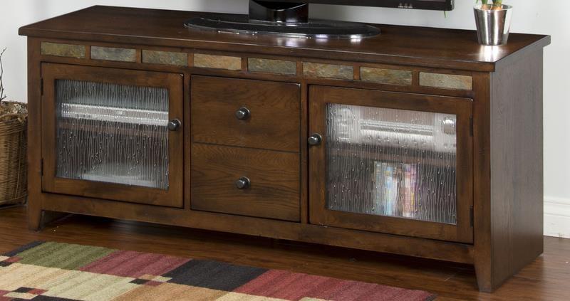 "Morris Home Furnishings Oak Creek Oak Creek 62"" Console - Item Number: 539775089"