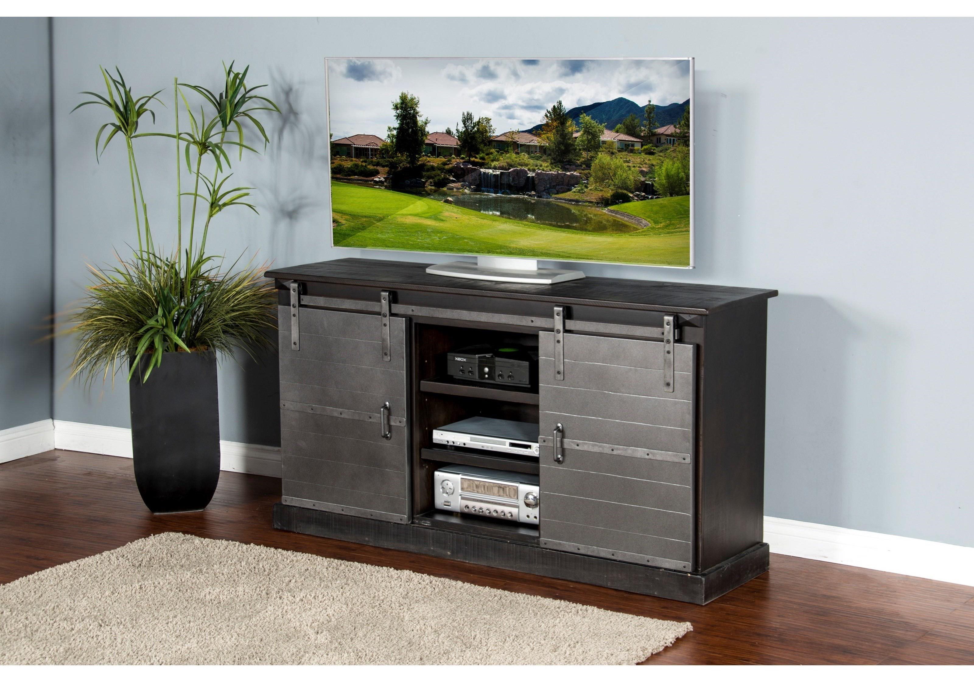 Oakhurst Console with Metal Doors
