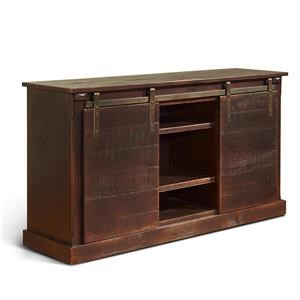 "Morris Home Furnishings Oakhurst Oakhurst 62"" Console W/ Barn Doors"