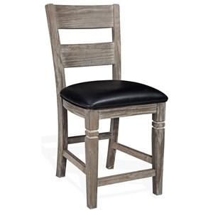 "24"" Ladderback Barstool with Cushion Seat"