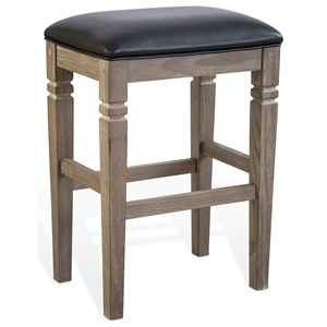"""30"""" Backless Stool with Cushion Seat"""