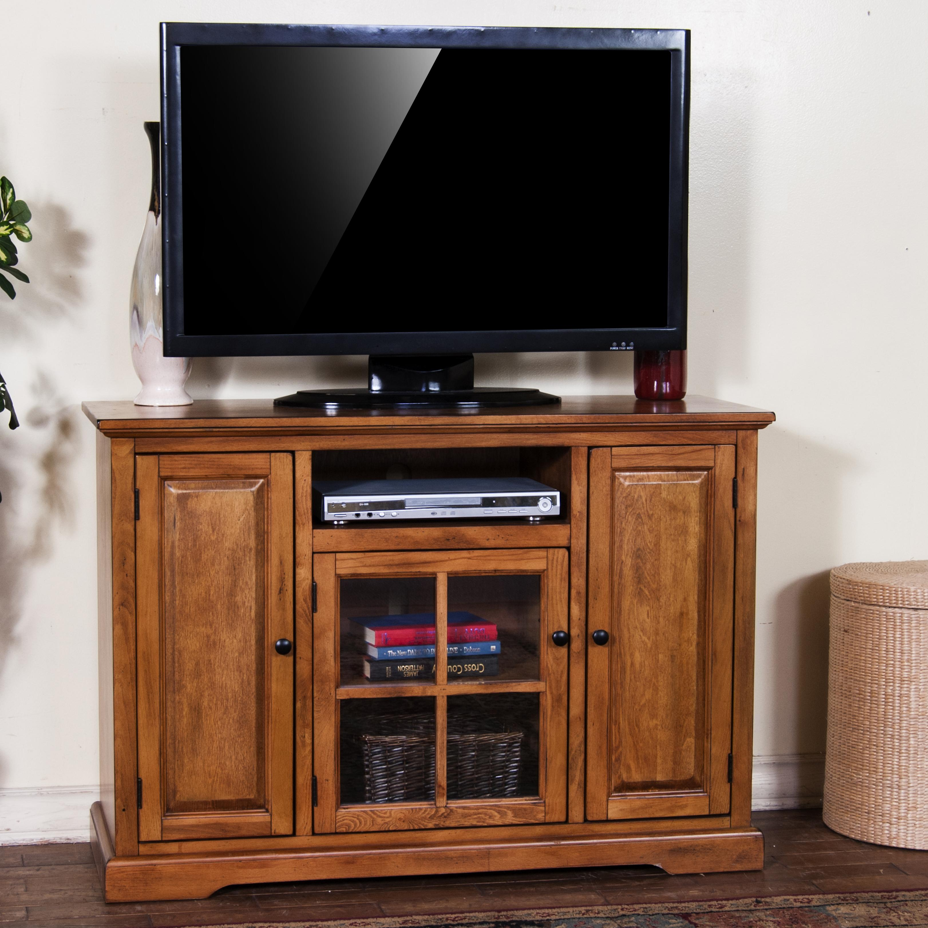 """Sunny Designs Rustic Birch 48"""" TV Console - Item Number: 3474RB-48"""