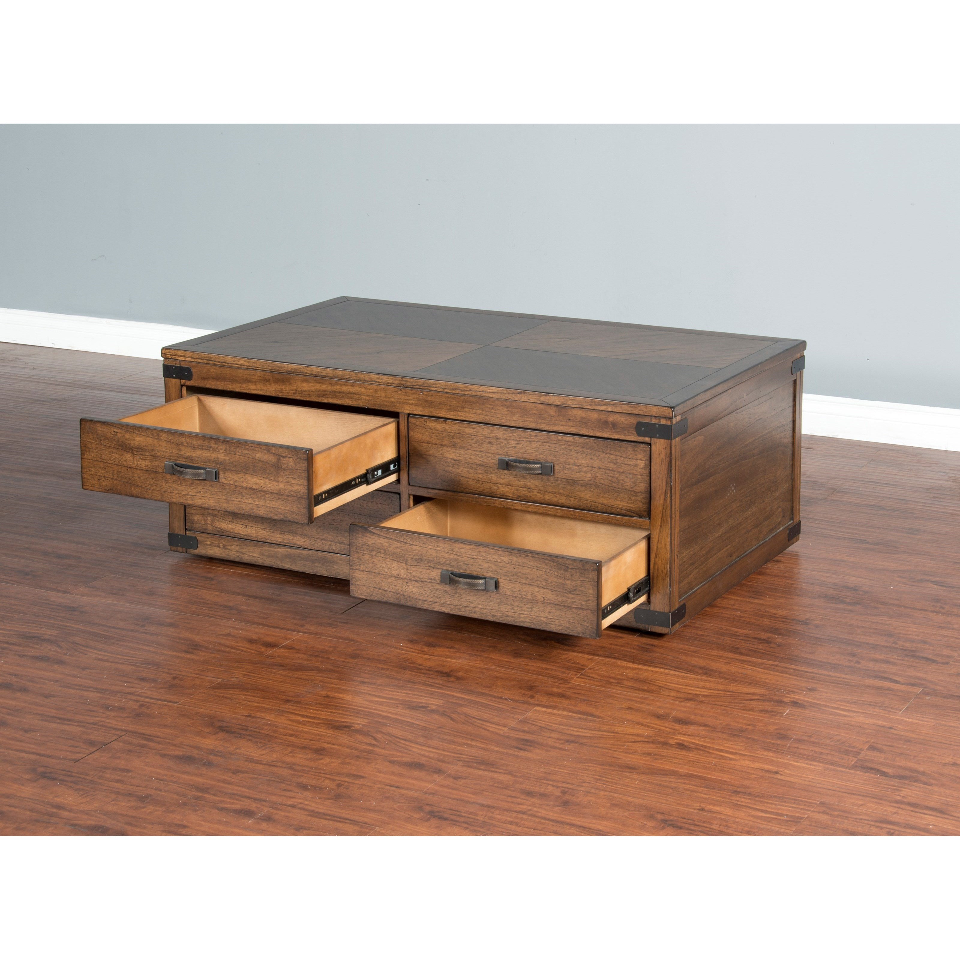 Sunny Designs Safari Coffee Table W 4 Drawers Amp Casters