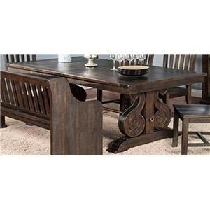 Morris Home Furnishings Saletta Saletta Trestle Table