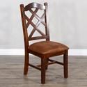 Sunny Designs Santa Fe 2 Crossback Dining Side Chair - Item Number: 1415DC2