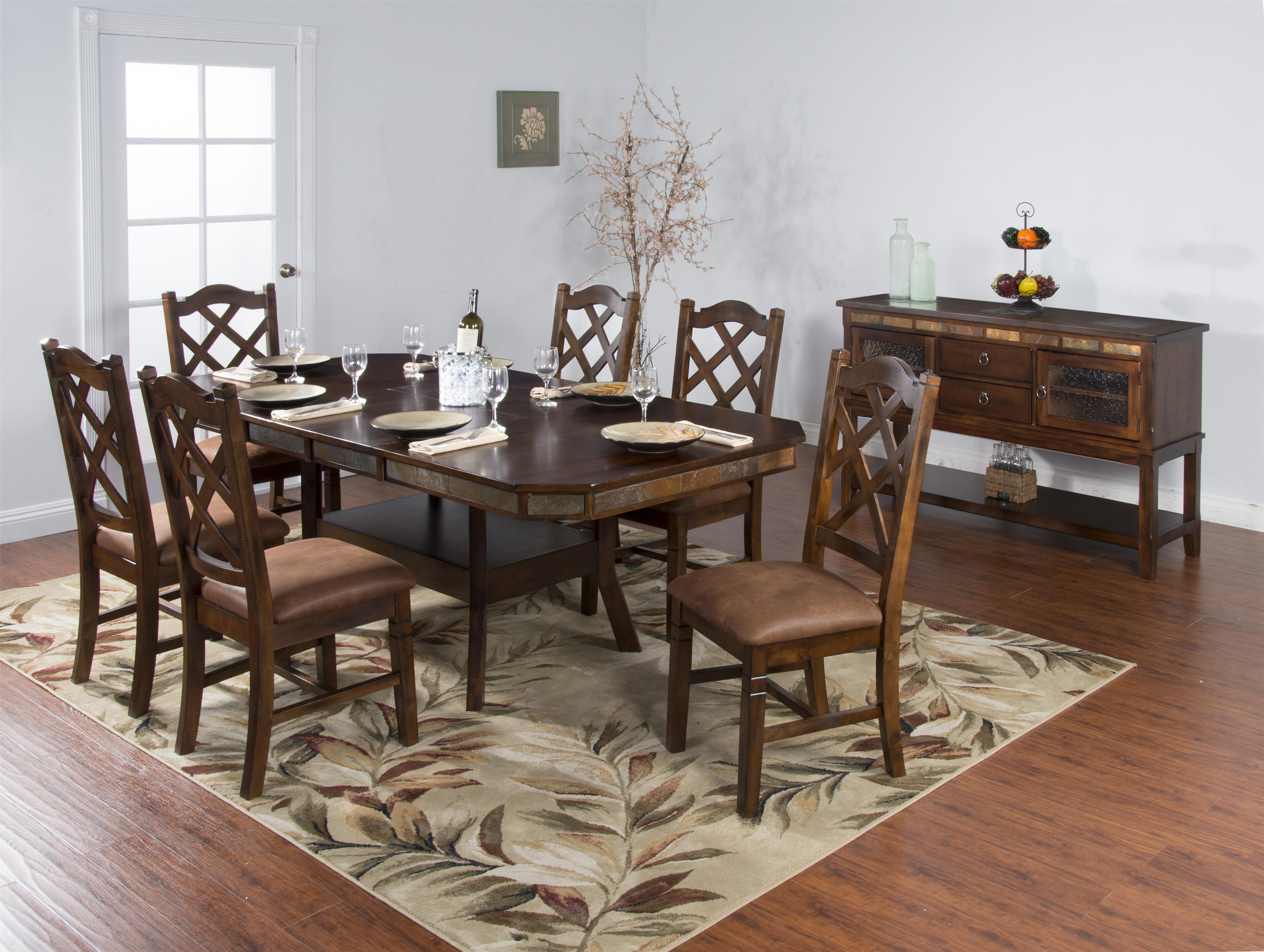 Sunny Designs Santa Fe 7-Piece Adjustable Height Table Set ...