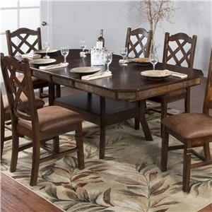 Adj. Height Dining Table w/ 2 Leaves