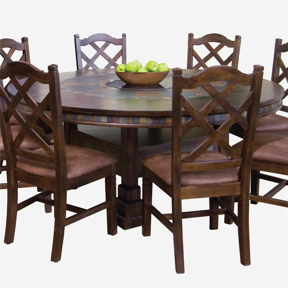 Sunny Designs Santa Fe Traditional Round Dining Table With