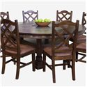 Sunny Designs Santa Fe Round Dining Table - Item Number: 1225DC