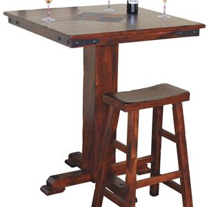 Sunny Designs Santa Fe Small Square Slate Top Pub Table
