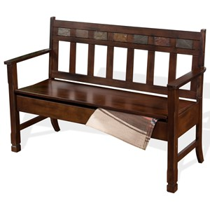 Sunny Designs Santa Fe Deacon's Bench w/ Storage