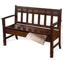 Sunny Designs Santa Fe Deacon's Bench w/ Storage - Item Number: 1594DC