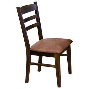 Sunny Designs Santa Fe Ladderback Upholstered Side Chair