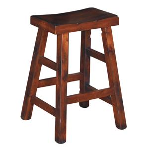 Sunny Designs Santa Fe 24 Inch High Saddle Seat Stool