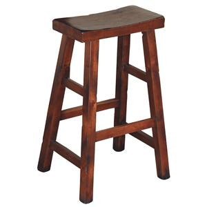 Sunny Designs Santa Fe 30 Inch High Saddle Seat Stool