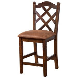 Sunny Designs Santa Fe Double Crossback Stool