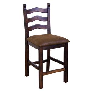 Sunny Designs Santa Fe 24 Inch Curved Ladder Back Bar Stool