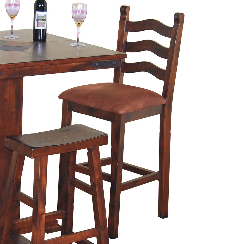 30 Inch Curved Ladderback  Bar Stool