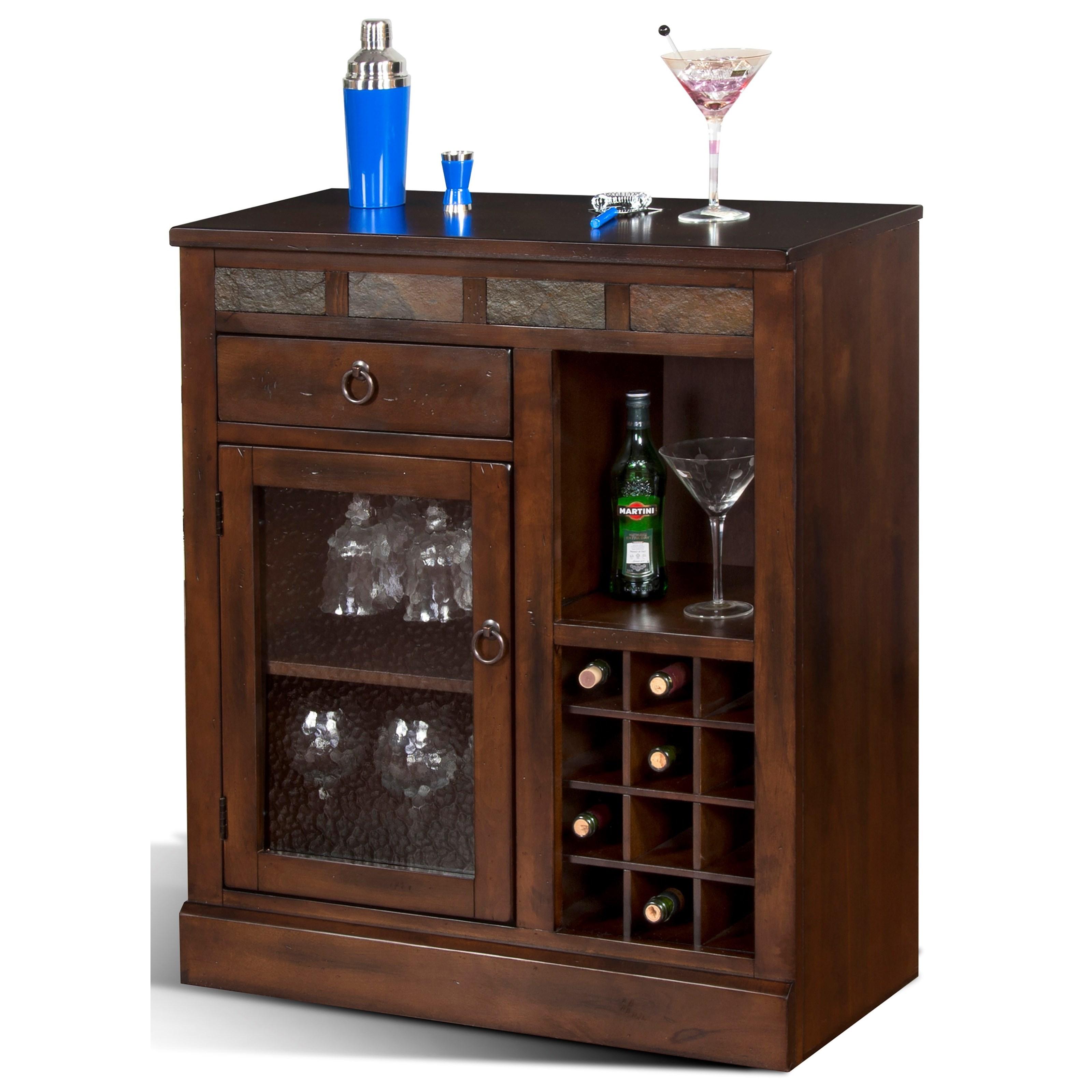 Mini Bar Cabinet Furniture: Sunny Designs Santa Fe Mini Bar Cabinet