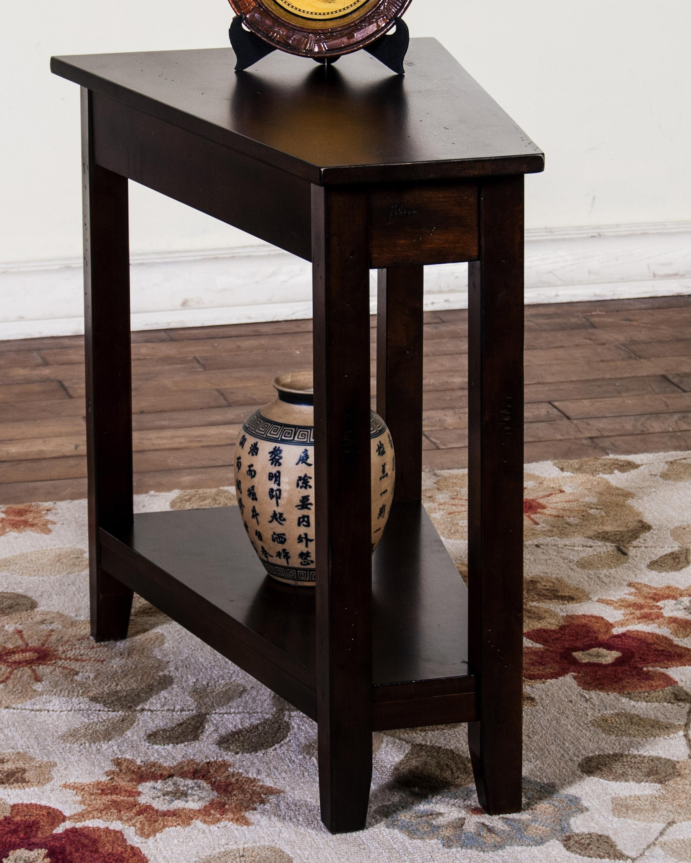 Beau Market Square Morris Home Furnishings Inwood Chair Side Wedge Table   Item  Number: 2226DC
