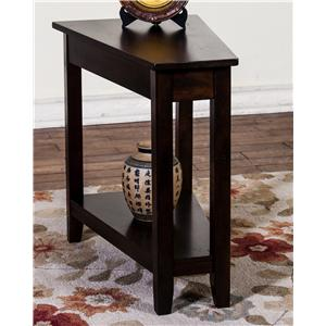 Morris Home Furnishings Morris Home Furnishings Inwood Chair Side Wedge Table