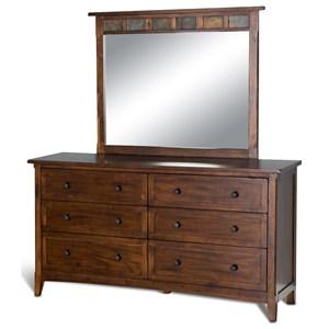 Sunny Designs Santa Fe Dresser & Mirror