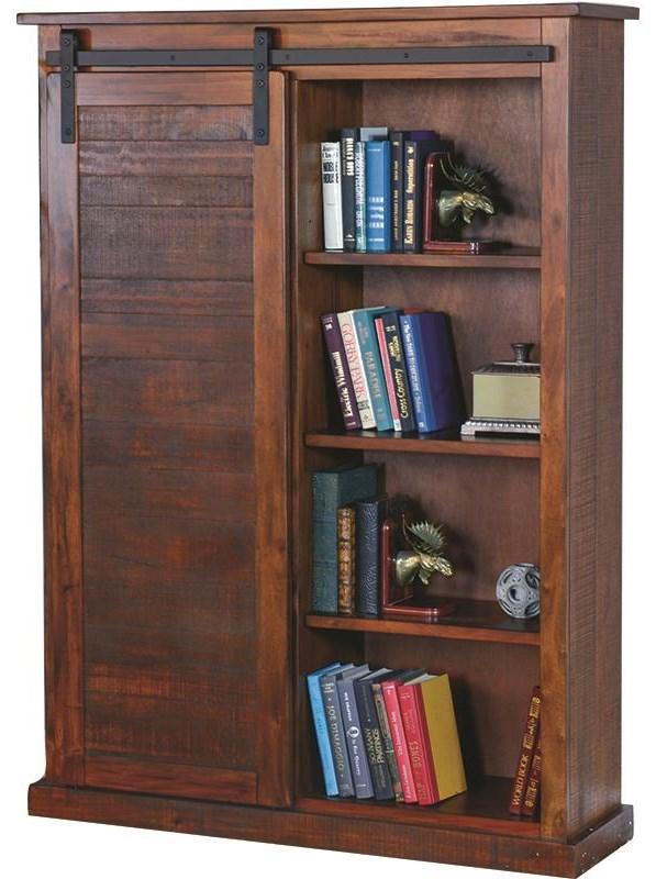 Bookcase With Sliding Barn Door